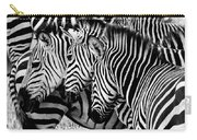 Zebras Triplets Carry-all Pouch