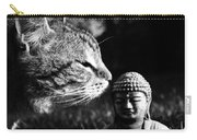 Zen Cat Black And White- Photography By Linda Woods Carry-all Pouch