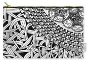 Zentangle Inspired Design Carry-all Pouch