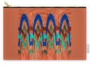 Zig Zag Pattern On Orange Carry-all Pouch