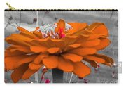 Zinna In Orange And Grey Tone Carry-all Pouch