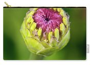 Zinnia Bud Close-up Carry-all Pouch