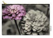Zinnia Flower Pair Carry-all Pouch