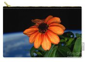Zinnia Grown On Iss Veggie Facility Carry-all Pouch