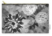 Zinnia In Black And White  Carry-all Pouch