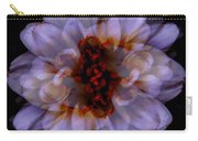 Zinnia On Black Carry-all Pouch