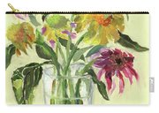 Zinnias In Vase Carry-all Pouch