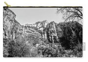 Zion National Park Utah Black White  Carry-all Pouch