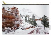 Zion Road In Winter Carry-all Pouch