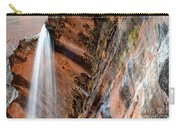 Zion Waterfall At Emerald Pools Carry-all Pouch