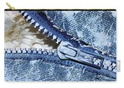 Zipper In Blue Carry-all Pouch