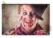 Zombie At Dentist Holding Toothbrush. Tooth Decay Carry-all Pouch