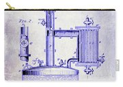 1878 Beer Boiler Patent Blueprint Carry-all Pouch