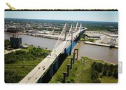 Aerial View Of Talmadge Bridge Carry-all Pouch