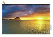 Amazing View Of Le Morne Brabant At Sunset.mauritius. Panorama Carry-all Pouch