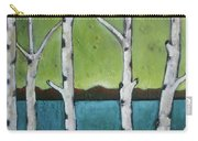 Aspen Trees On The Lake Carry-all Pouch