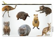 Australian Animals Isolated Carry-all Pouch by Benny Marty