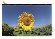 Bee On Blooming Sunflower Carry-all Pouch