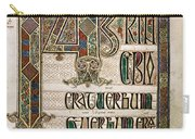 Book Of Lindisfarne Carry-all Pouch