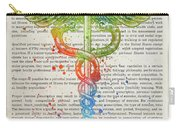 Certified Personal Trainer Gift Idea With Caduceus Illustration  Carry-all Pouch