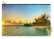 Coastal View At Sunset. Mauritius. Panorama Carry-all Pouch