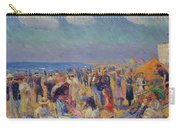 Crowd At The Seashore Carry-all Pouch