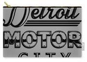 Detroit Motor City Carry-all Pouch