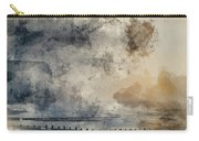 Digital Watercolor Painting Of Beautiful Dramatic Foggy Winter S Carry-all Pouch
