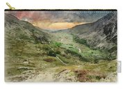 Digital Watercolor Painting Of Beautiful Dramatic Landscape Imag Carry-all Pouch