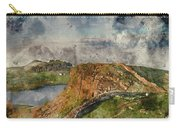 Digital Watercolor Painting Of Beautiful Landscape Image Of Hadr Carry-all Pouch