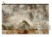 Digital Watercolor Painting Of Beautiful Vibrant Autumn Fall Tre Carry-all Pouch
