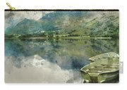 Digital Watercolor Painting Of Panorama Landscape Rowing Boats O Carry-all Pouch