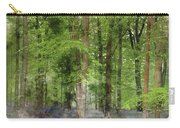 Digital Watercolor Painting Of Stunning Bluebell Forest Landscap Carry-all Pouch