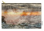Digital Watercolor Painting Of Stunning Winter Panoramic Landsca Carry-all Pouch