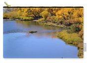 Distant Fisherman On The San Juan River In Fall Carry-all Pouch