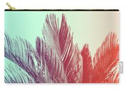 Duotone Background Of Tropical Palm Leaves Carry-all Pouch