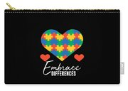 1 Embrace Differences Carry-all Pouch