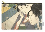 Geisha And Attendant On A Rainy Night Carry-all Pouch