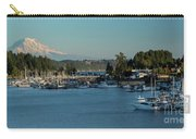 Gig Harbor Marina With Mount Rainier In The Background Carry-all Pouch