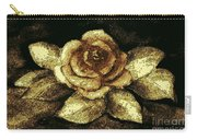 Antique Gold Rose Carry-all Pouch