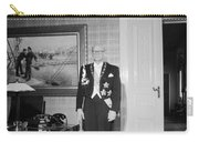 In The Photo The New President Of The Republic Urho Kekkonen Is Photographed At The Presidential Pa Carry-all Pouch
