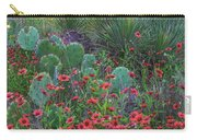 Indian Blanket Flowers And Opuntia Carry-all Pouch