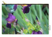 Iris In The Cottage Garden Carry-all Pouch