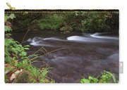 Long Exposure Photographs Of Rolling River With Fall Foliage Carry-all Pouch