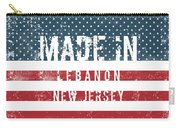 Made In Lebanon, New Jersey Carry-all Pouch