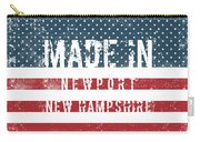 Made In Newport, New Hampshire Carry-all Pouch