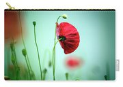 Morning Poppy Flower Carry-all Pouch