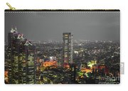 Mostly Black And White Tokyo Skyline At Night With Vibrant Selective Colors Carry-all Pouch