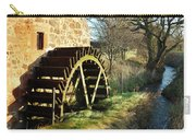 old mill wheel and stream at Preston Mill, East Linton Carry-all Pouch