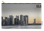 Panoramic View Of Manhattan Island And The Brooklyn Bridge At Su Carry-all Pouch